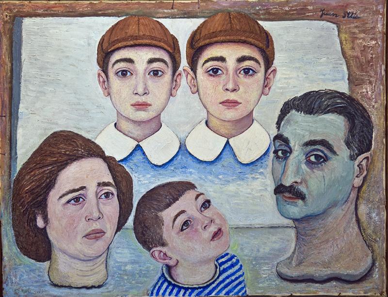 Ritratto di famiglia.  - Quadro ad olio dipinto da mio padre.